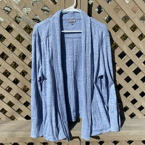 Blue Cotton Open Talbots Sweater - XL